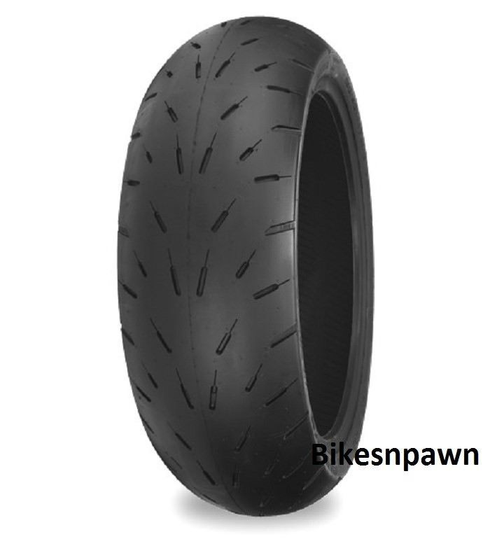 New Shinko Hook-Up Radial Rear Motorcycle Drag Race Tire 190/50ZR17 87-4651