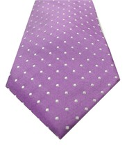 NEW MENS TOMMY HILFIGER METCALF DOT PURPLE 100% SILK NECK TIE $65 - $24.74