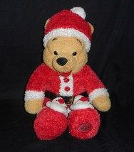 "13 "" Disney Noël Winnie L'Ourson Santa Chapeau Couchette Animal en Peluche Jouet - $18.49"