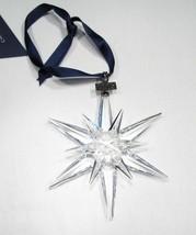 Estate Swarovski 2005 Large Crystal Snowflake Ornament Original Box Papers C1954 - $169.14