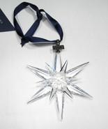Estate Swarovski 2005 Large Crystal Snowflake Ornament Original Box Pape... - $169.14