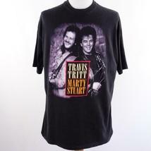 Vintage Travis Tritt & Marty Stuart No Hats Tour Graphic T Shirt Mens Sz... - $38.60