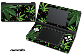 Skin Decal Wrap for Nintendo DSI Gaming Handheld Sticker WEEDS BLACK - $13.81
