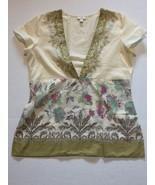Womens Top Size Small Petite J. Jill Sleeveless V Neck Cross Over Shirt  - $3.99