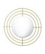WALL MIRROR Round with Modern Gold Circle Frame - $43.95