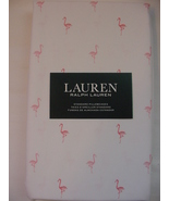 Ralph Lauren Pink Flamingos on White Pillowcases Standard  - $28.88