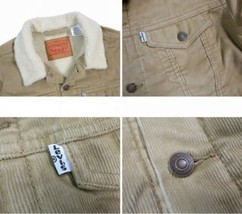 Levi's Men's Classic Corduroy Sherpa Trucker Button Up Jacket 723360004 image 2