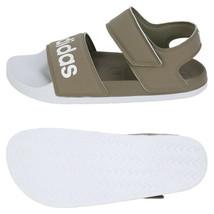 Adidas Adilette Sandals Slides Slipper Brown/White F35414 - $47.99+