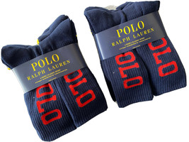 Polo Ralph Lauren men's 12 pair Navy crew large polo logo athletic Socks - $50.45