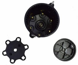 Pro Series Distributor Cap & Rotor Kit 6-Cylinder Male Black image 3