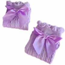 Baby Socks Lovely Bow Cotton Summer Infant Stocking 1-4 Years Old(Purple) image 2