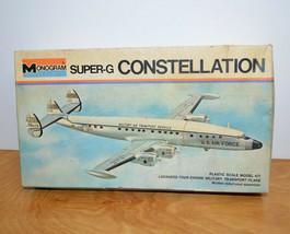 Vintage MONOGRAM SUPER-G CONSTELLATION Model Kit Junkyard Parts Lot Box ... - $16.74