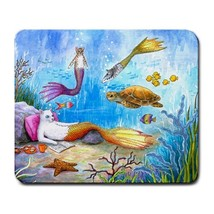 Mousepad Mouse Pad Mat Cat Mermaid 31 merkitty fantasy art by L.Dumas - $15.99