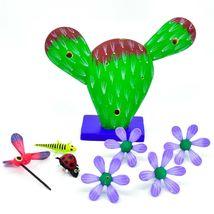 Handmade Alebrijes Oaxacan Painted Wood Folk Art Flowering Prickly Pear Cactus image 7