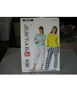 Butterick See & Sew B5517 Misses Top & Pants Pattern - Size L-XL (16-22) - $7.91