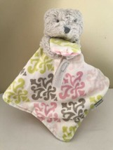 Blankets and Beyond Security Baby Lovey Green, Gray Pink Damask Pacifier... - $29.70