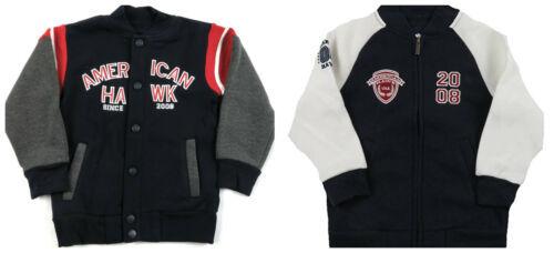 Toddler Boy's American Hawk Lined-Fleece Varsity Jacket Licensed NEW