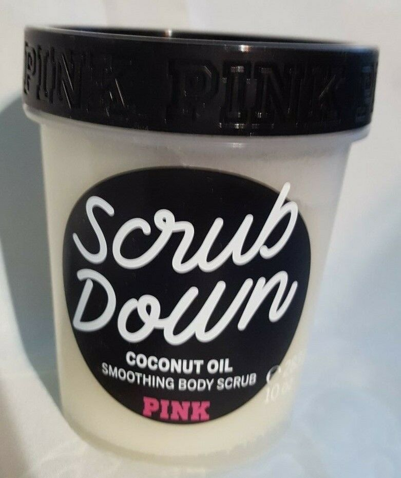 Primary image for NEW Victorias Secret PINK Scrub Down Coconut or detox charcoal Body Scrub 10 oz