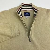 International Waters 1/4 Zip Sweater Men's Size 2XL Long Sleeve Tan knit... - $19.99