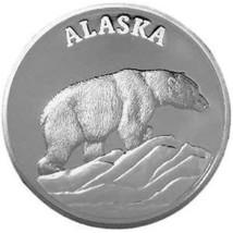 Alaska Mint POLAR BEAR Medallion Proof 1Oz Boxed - $79.08