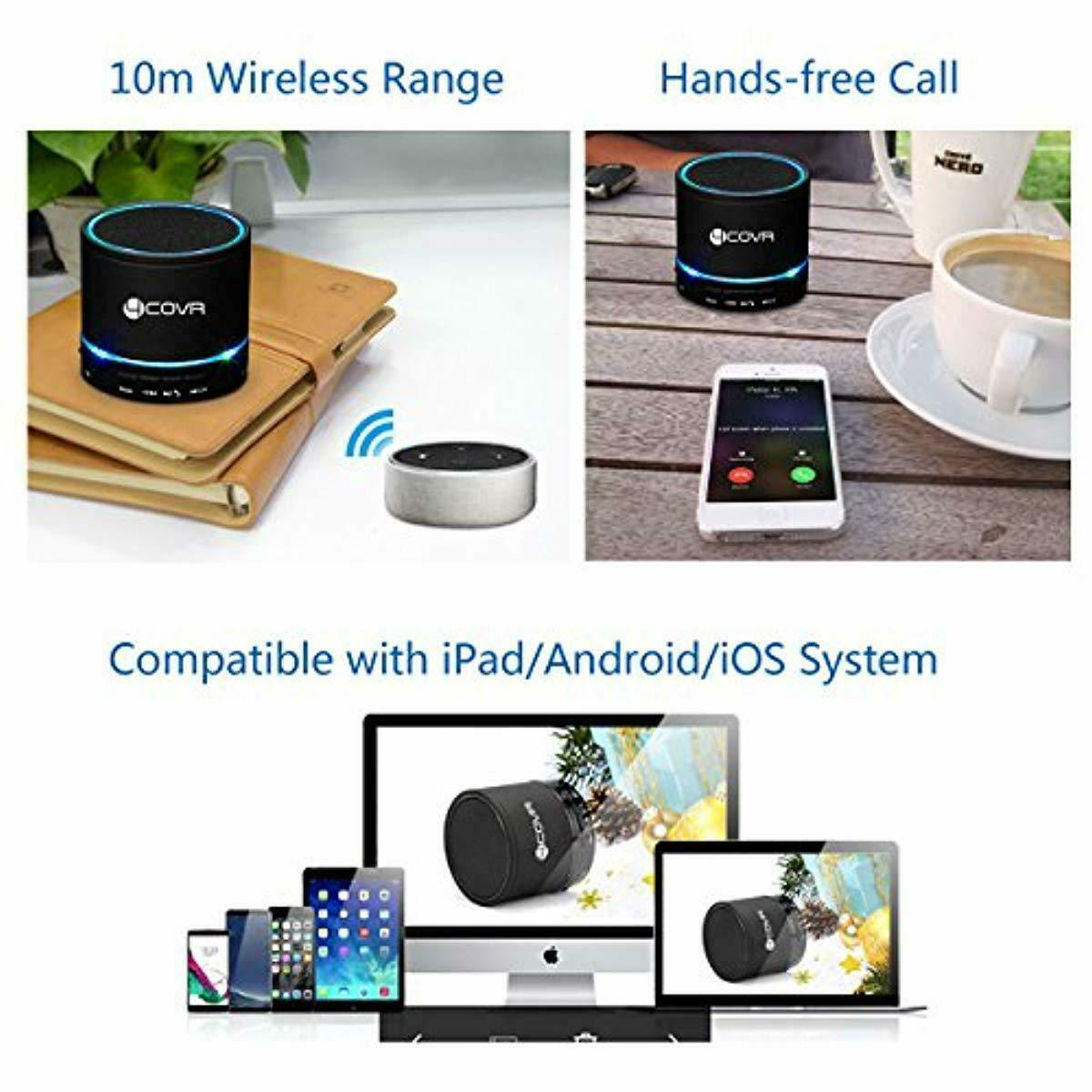 Forcovr Wireless Bluetooth Speaker Mini LED Multi Function For Smartphone Tablet