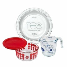 PYREX 4-Piece 100-Year Anniversary SET RED NEW IN THE BOX SEALED USA - $59.39