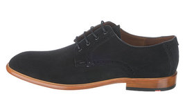 Handmade Men's Black Suede Dress Formal Oxford Shoes image 2