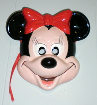Minnie Mouse Walt Disney Wall Mask Plaque Ceramic Porcelain Made in Japan - $59.00