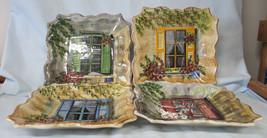 Tabletops Unlimited Rue de Paris Windows Salad Plate set of 4 - $38.50