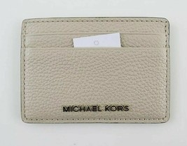 Michael Kors Money Pieces NWT Oat Cream Safiano Grained Leather Card Holder - $27.45