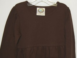 Blanks Boutique Long Sleeve Empire Waist Brown Ruffle Dress Size 4T image 2