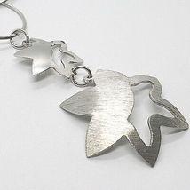 Halskette Silber 925, Kette Kreise, Doppelt Blume, Sonne Anhänger, Satin image 3