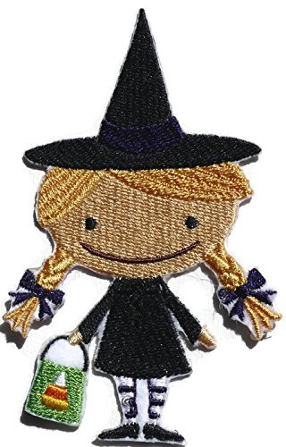 Custom And Unique Happy Halloween [Boo Crew Witch ]Embroidered Iron on/Sew patch