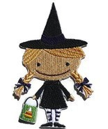 Custom And Unique Happy Halloween [Boo Crew Witch ]Embroidered Iron on/S... - $12.69 CAD