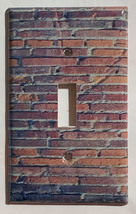 Red Brick wall patterns Light Switch Outlet wall Cover Plate Home Decor