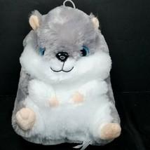 "Gray White Hamster Gerbil Plush Stuffed Large Giant Rodent 10"" Big Blue ... - $17.81"
