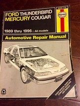 Haynes Repair Manual Ford Thunderbird Mercury Cougar 1989 thru 1996 - $10.00