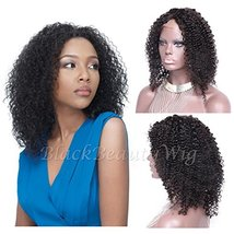 Black Beauty Wig 8A Kinky Curly Wig Brazilian Human Hair Wigs (18 inches, 130% D - $179.34