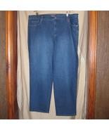 NWT Gloria Vanderbilt Navy Denim Stretch 5 Pocket Jeans Pants Size 20 WS - $15.36
