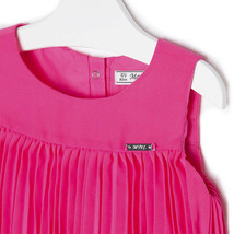 Mayoral Little Girls 2T-9 Fuchsia-Pink Pleated Triple Tier Social Dress image 3