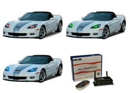 for Chevrolet Corvette 05-13 RGB Multi Color WIFI LED Halo kit for Headl... - $147.51