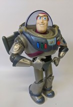 "Vintage Disney Pixar Silver Grey & Blue 12"" BUZZ LIGHTYEAR Talking Actio... - $23.00"