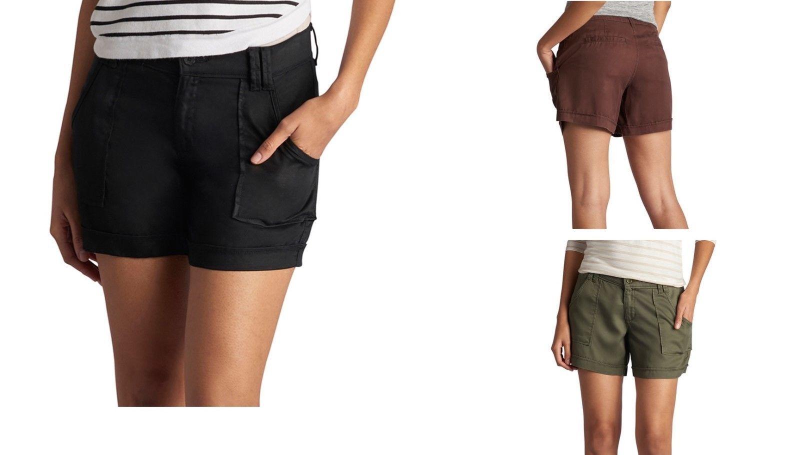 09541463719 NWT  44 Women s LEE Eloise Soft Tencel Shorts BROWN Sizes 12 16 -  17.99