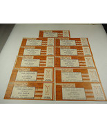 11 Barry Manilow Concert Tickets 1988 Unused can be repurposed for priva... - $18.56