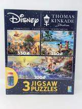 Disney Thomas Kinkade Studios Set of 3 Jigsaw Puzzles - $19.99