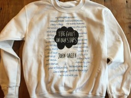 The Fault In Our Stars Sweatshirt John Green Small Mint Cond Rare HC pap... - $34.20