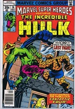 Marvel Super Heroes #74 ORIGINAL Vintage 1978 Comic Book Hulk Fantastic ... - $9.49