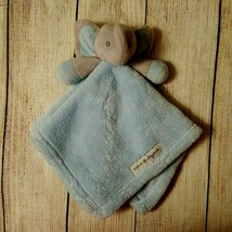 Blankets And Beyond Blue Grey Elephant Baby Security Blanket Lovey Plush - $16.82