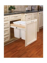 Rev-A-Shelf - 4WCTM-21DM2 - Double 35 Qt. Pull-Out Top Mount Wood and Wh... - $146.47