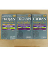 Lot of 3 TROJAN Sensitivity Pack Lubricated Assorted Condoms 30 count Ul... - $15.83